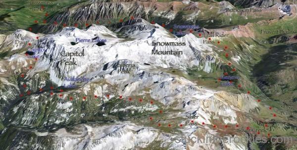 Capitol Snowmass trail run loop map