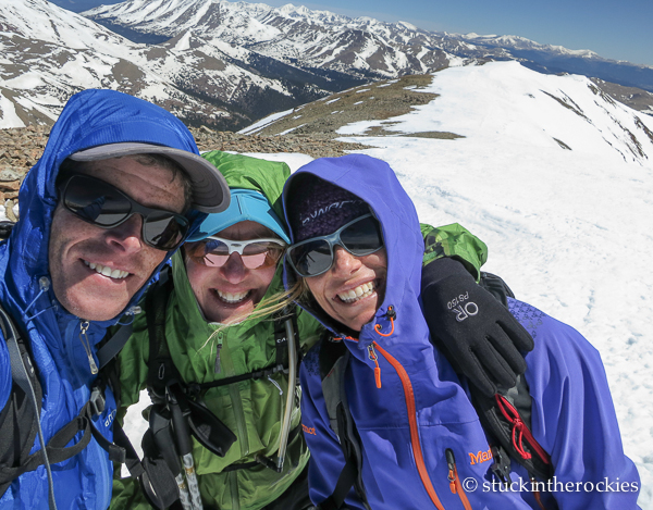Ted, Colleen, and I on the summit.