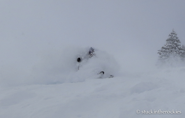 tim mutrie in filips leap in highland bowl
