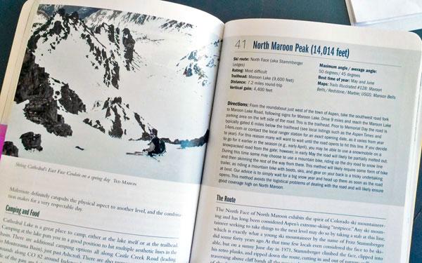colorado ski guide book.