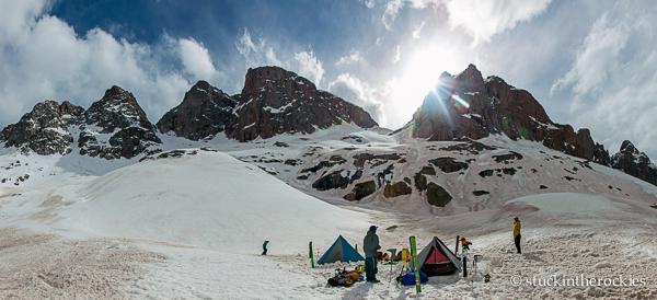 Camp 2, Noname Creek, 12,000 feet.