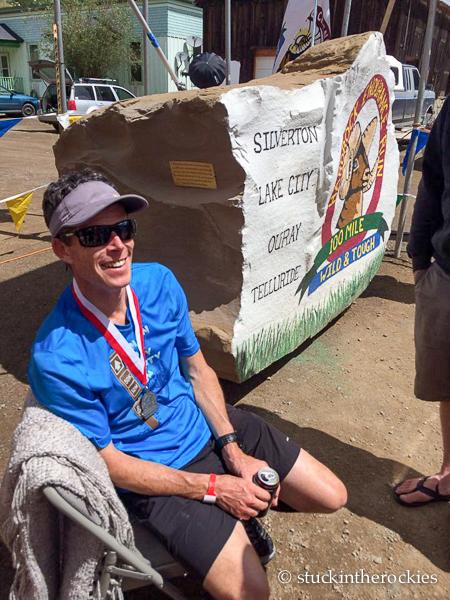 Ted mahonat the hardrock 100 finish