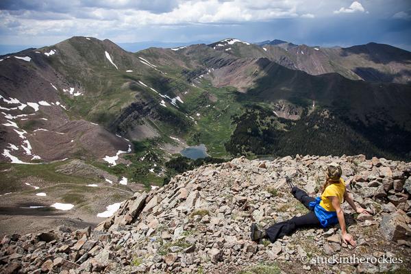 On top of Spread Eagle Peak