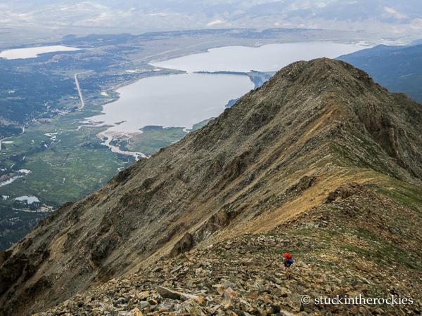 Twin Peaks over Twin Lakes