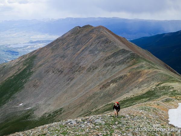 Christy Mahon hikes the ridge to Rinker Peak
