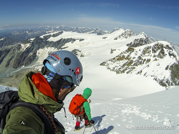 Ted and Christy mahon on Castor peak
