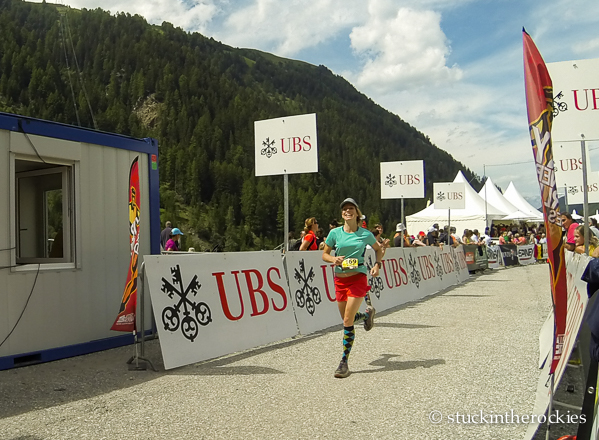At the finish.