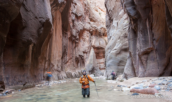 Chris Carmichael in the Zion Narrows