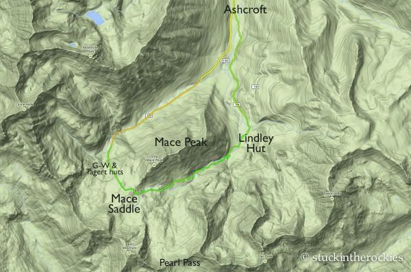 Mace Peak Loop map